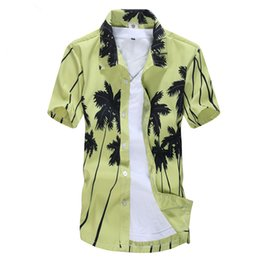 5b292bab 2019 Summer Men's Beach Shirt Surf T-Shirts Trees Hawaiian Shirts Male Big  Sizes Short Sleeve Chemise Male Swim Clothing