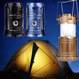 Chargers bulbs online shopping - Ultra Bright Portable Solar Charger Camping Lantern Lamp Outdoor Camp Tent Survival Lamp for Fishing Emergency Hiking LJJZ143