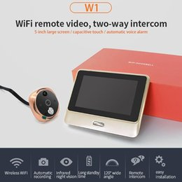 Lcd screen viewer online shopping - 5 inch LCD Screen Capacitive Touch Visual Door Bell Viewer WiFi IR Night Door Peephole Camera Cat Eyes Video New