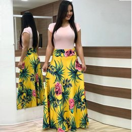 $enCountryForm.capitalKeyWord Australia - Women's stock summer bohemian short-sleeved color printing big pen name brand explosion dress wholesale and retail