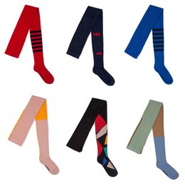 Girl Toddlers Australia - Baby Geometric Striped Tights Stockings Kids Long High Chaussettes For Toddlers Girls Knitted Cotton Clothes 1-9y J190523