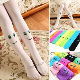 face leggings NZ - Kids Girls Smile Face Stockings Pantyhose Smiling Face Kids Tights Kids Dance Tights Student Girls Pantyhose Leggings