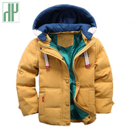 kids navy jacket NZ - HH Kids boys Hooded Winter baby girl autumn toddler coat children snowsuit Velvet jacket Outwear 3 4 5 8 10 YearsMX190919