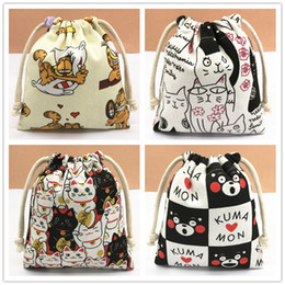 a967637c94520 IVYYE 14 or 17CM Kumamon Doraemon Cartoon Drawstring Bags Canvas Storage  Handbags Makeup Bag Coin Bundle Pocket Purse NEW