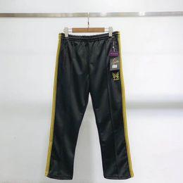 $enCountryForm.capitalKeyWord NZ - 2019 AWGE X NEEDLES ASAP ROCKY Pants Butterfly Embroidery Sweatpants Stripe Casual Trousers Men Women Couple Sports Pants Fashion HFLSKZ053