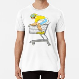 Wholesale fashion shopping trolleys for sale – custom Retail Racer T shirt shopping trolley cart funny fun cool retro vintage helmet bicycle