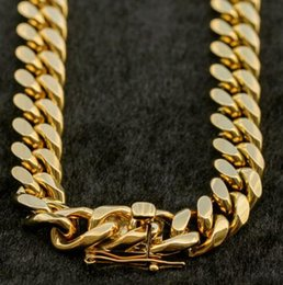 $enCountryForm.capitalKeyWord Australia - Men's Miami Cuban Link Chain 18K Gold Plated Stainless Steel 12mm Chain 30''