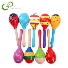 $enCountryForm.capitalKeyWord Australia - baby hammer 1pc Baby Kid Wooden Ball Toy Sand Hammer Rattle Musical Instrument Percussion Infant GYH