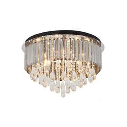 $enCountryForm.capitalKeyWord Australia - Dimmable luxury smoky grey crystal chandelier lighting modern black plate chandeliers lights led ceiling lamps for living room bedroom