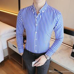 $enCountryForm.capitalKeyWord Australia - 2018 New Fashion Brand Camisa Masculina Long Sleeve Shirt Men Korean Slim Design Formal Casual Male Dress Shirt Size M-5XL
