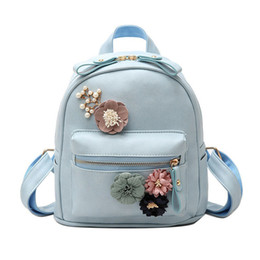 Styles Backpacks Australia - good quality Candy Color Fashion Backpack For Women Floral Design Pu Leather Rucksack Fresh Style High Quality Backpack For Female