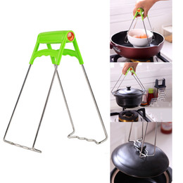 Kitchen Clamp Clip Australia - 1pc Stainless Steel Foldable Hot Dish Clamp Anti-Scald Bowl Clip Plate Pot Gripper Kitchen Utensil Holder Kitchen Tool