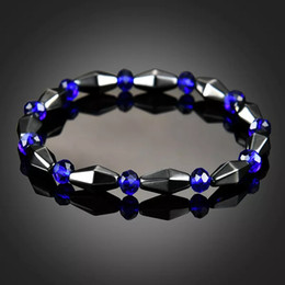 Discount cones bracelets - Cone Shape Magnetic Hematite Bracelet Stone Beads String Bracelet Bangle Power Healthy Jewelry for Women Men Gift Drop S