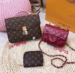 $enCountryForm.capitalKeyWord Australia - Designer Handbags Brand Bag Paris Real Leather Luxury Handbags Shopping Bag Shoulder Bag Fashion Clutch Bags Wallet Purse 1 Piece=3 bags L06