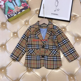 Child blazers online shopping - Children jacket kids designer clothing autumn and winter boys and girls fashion classic plaid blazer cotton coat