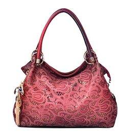Hollow Fiber Australia - European and American fashion single shoulder hollow Lady Bag New Lady carved handbag