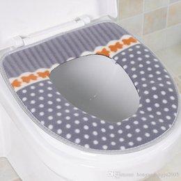 Toilet seat cushion mat thick waterproof magic seat mat buckle toilet ferrule warm toilet seat cushion 123G fluff PVC material bathroom need on Sale