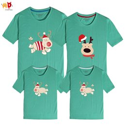 34b5a8aa0053 good quality 1PCS Christmas Deer Family Matching T-shirts Mother Son Father  Daughter Clothing Cotton Fabric Couple Clothes Tops Outwear