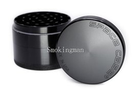 Discount large grinders - In Stock Space Case 63mm Large Grinder 4pcs Aluminum Grinder tobacco smoke cigarette detector grinding smoke Tobacco Gri