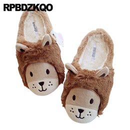 $enCountryForm.capitalKeyWord Australia - cartoon 11 shoes 43 home faux fur korean brown ladies slipper big size indoor slides house winter women large bedroom animal
