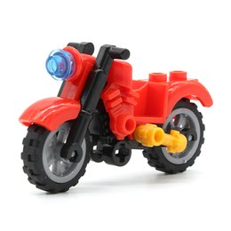 Super Blocks Australia - Blocks 6Pcs set Motorcycle Building Blocks Compatible with legoINGly Bicycle Block Bricks Toys Accessory for Dolls Super Hero Figure