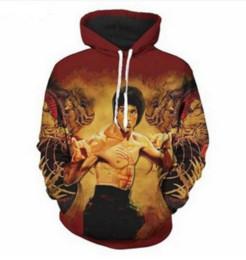 $enCountryForm.capitalKeyWord UK - Hot Fashion Men Women Harajuku Style Chinese Kongfu Bruce Lee Rocket Hooded Hoodies 3D Print Unisex Tops Wholesale and Retail RL0255