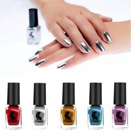 a5a5b6eedbf06 Discount pink mirror nails - Fashion Mirror Nail Polish Silver Color 6 ML  Long-Lasting