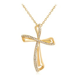 wholesale jewelry south america UK - Foreign Trade Best Selling New Jewelry Necklace Personality Europe And America Wind Cross Cross Pendants Wholesale Women's Best Gift