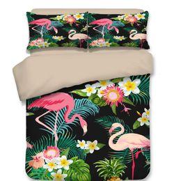 $enCountryForm.capitalKeyWord NZ - Pillow Case Tropical Plants Duvet Cover Set Home Microfiber Fabric Plants Print Printed Luxury Bedding Set 4pcs Fashion Twin Queen King