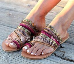 $enCountryForm.capitalKeyWord Australia - Pretty2019 Manual Organization Posimi Second Flat Bottom Sandals 43 Will Code Women's Shoes