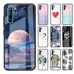 rose wine glasses Australia - Tempered Glass Case For Huawei P20 Lite P20 Pro Nova 3 3i Mate 20 10 P30 Love Heart Full Protection Cover For8X Cases