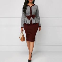 $enCountryForm.capitalKeyWord Australia - Clocolor Office Ladies Elegant Women Bodycon Tunic Autumn Long Sleeve High Waist Large Size Female Fashion Afircan Vintage Dress J190622