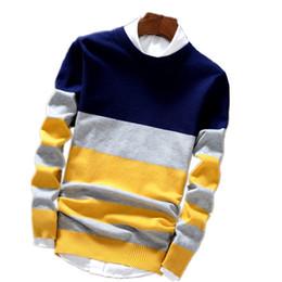 Cotton Knit Tunics Australia - YG6174-A1239 2017 spring Autumn new fashion men long sleeve knitted top cotton tunic round neck sweater cheap wholesale #391471