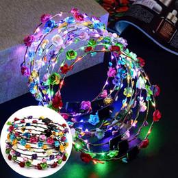 $enCountryForm.capitalKeyWord Australia - New Circular Hair Ornament LED Light Glowing Flower Head Ring New Fashion Circular Hair Ornament