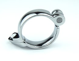 Device lock penis online shopping - 1 pc adult toy stainless steel male chastity with lock cock ring penis collar used for cleaning device