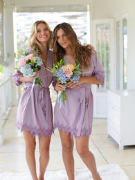 Wholesale Customize Name Cheap Bridesmaid Robes & Bridal Night Robe Dress For Weddings Bridesmaids Night Robe Dress Bridal Proposal Gifts FS8217