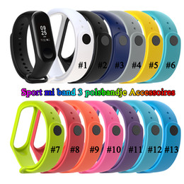 Wholesale Smart Band Replace Strap Smart Bracelet Accessories Silicon Wristband Strap For Xiao Mi M3 Home Outdoor Smart Bracelet