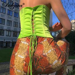 $enCountryForm.capitalKeyWord NZ - Dulzura 2019 Summer Women Crop Top Tops Tanks Bandage Sleeveless Sexy Cropped Rave Festival Party Cami Satin Top Femme Q190426