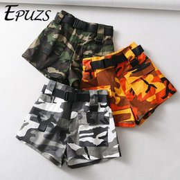 16a643faf Summer Belt Camouflage Biker Shorts Women Sexy High Waist Shorts Streetwear  Cotton Cargo Shorts Korean Short Feminino 2019 J190430