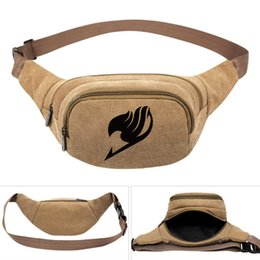 $enCountryForm.capitalKeyWord Australia - Fairy tail waistpacks Lucy Heartfilia waist bag End cartoon belt side packs Khaki color canvas bum pocket Outdoor sport waistbag