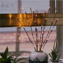 $enCountryForm.capitalKeyWord NZ - Warm White 20LEDS Led Tree Light Battery Powered Christmas Fairy Flexible String Wedding Decoration Indoor Table Lamp Luminarias Night Light
