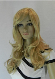 highlighting cap Australia - WIG LL Super Sexy Long HighLight Blonde curly Lady's Cosplay Hair Full Wig Wigs + Cap fast ship