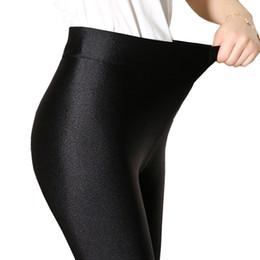 Leggings Shine UK - Fashion Black Shine Leggings Womens Leggins Sexy Fitness Legging Slim Punk Rock Plus Size Legins Elastic Bandage Femme