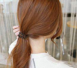 White Gold Hair Australia - white silver gold black Bright Phone Line Hair Loop Summer Silver Hair Decoration Rubber Band