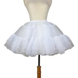 $enCountryForm.capitalKeyWord Australia - Organza Short Petticoat Lolita White black Layered Tutu Skirt For Women J190626