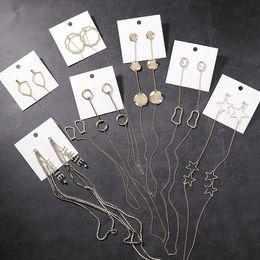 $enCountryForm.capitalKeyWord Australia - 2019 Korean New Trendy Personality Geometric Wafer Circle Letter Long Chain Earrings For Women Rhinestone Drop Earing
