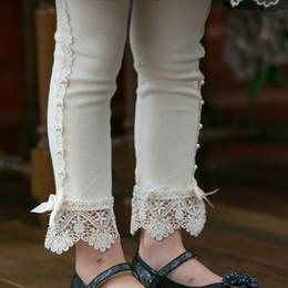 Gray Cotton Leggings NZ - kids designer clothes girls Leggings lace bows Kids Leggings Tights Cotton Girls Trouser Girls Tights girl clothes Children pants A3452