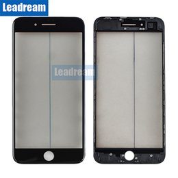 Iphone Front Screen Oem NZ - OEM Front Outer Glass Touch Screen Glass Lens with Frame OCA for iPhone 8 Plus free DHL