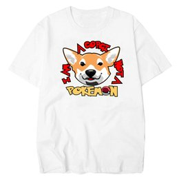 T-shirts Men's Clothing Beautiful Summer Graphic T Shirt Men Tops Tees Corgi Printed Women Funny T-shirt Short Sleeve Casual Tshirts