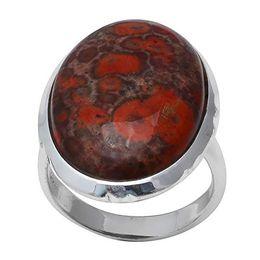 Red Jasper 925 Sterling Silver Ring 6.5 Gemstone 59